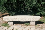 granite curved bench