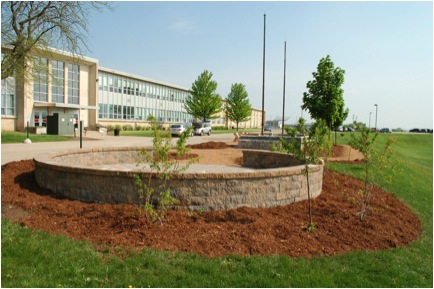 Picture 10: The outdoor classroom and raised garden bed are complete! All photography by Meg Mastroianni