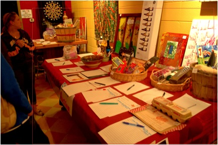 Picture 2: Part of our fundraising efforts included a silent auction