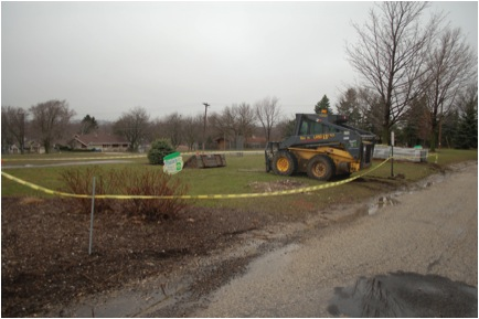 Picture 3: This is the first day of construction for the garden and outdoor classroom