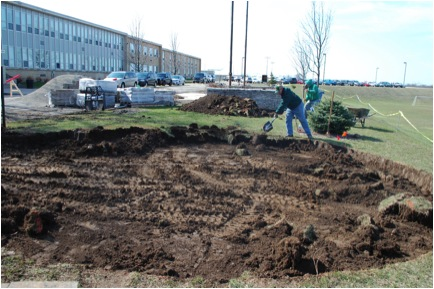 Picture 5: The outdoor classroom area takes shape