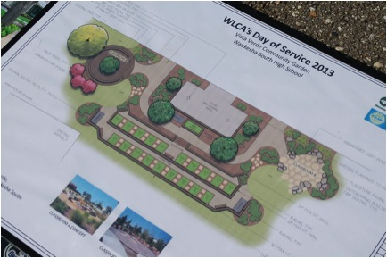 Picture 6: The garden design was donated by Piala's Landscaping, Waukesha, WI.